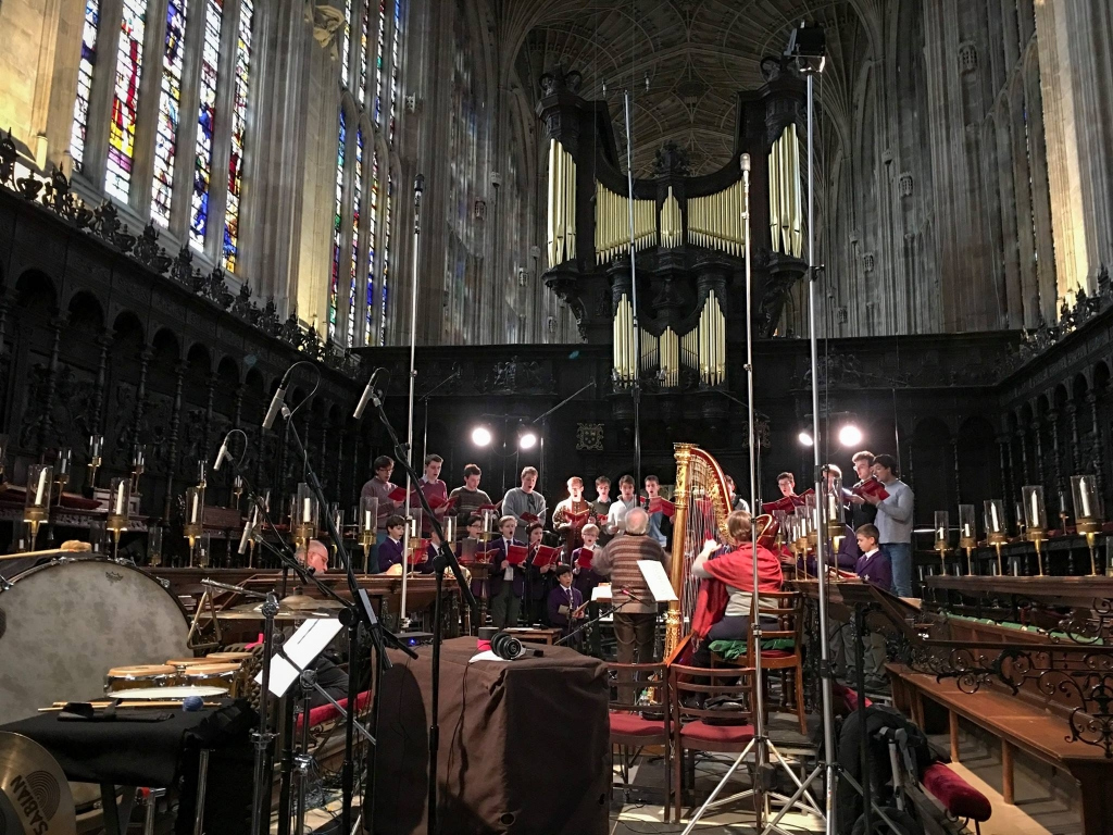 The Choir recording Bernstein's Chichester Psalms.