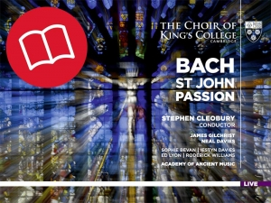 Bach St John Passion Booklet Cover