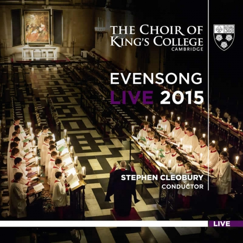 Evensong Live 2015 front cover