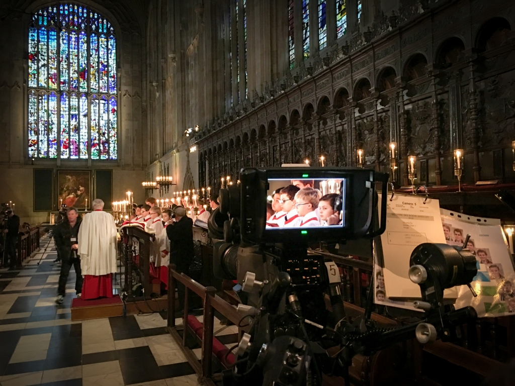 A BBC camera in the Chapel