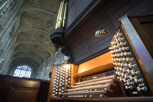 The organ console