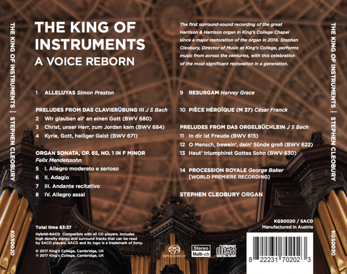 The King of Instruments Back Cover
