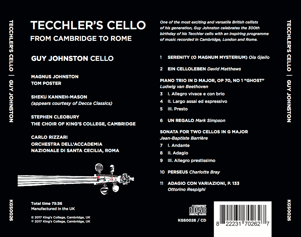Tecchler's Cello back cover