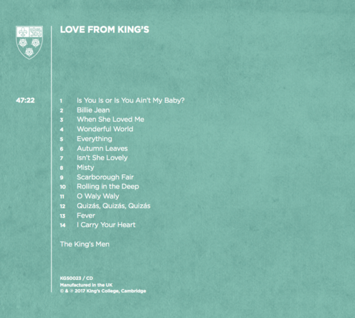 Love from King's: back cover