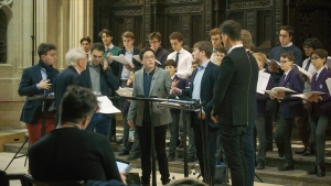 The King's Singers rehearsing at King's, January 2018