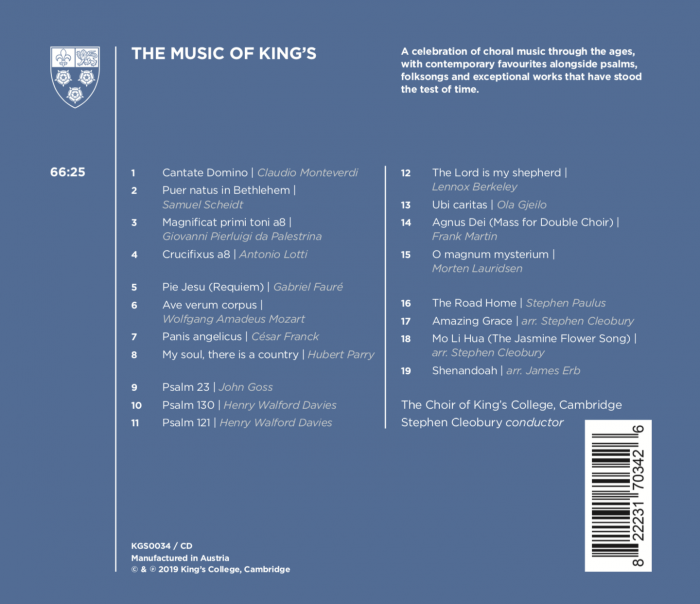The Music of King's back cover