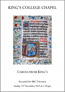 Carols from King's service paper cover