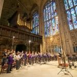 Recording session for Bruckner motets