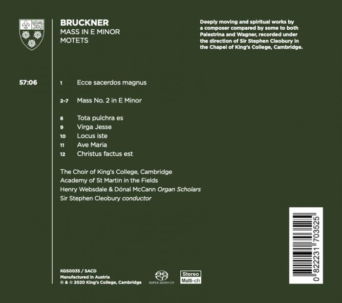 Bruckner album back cover