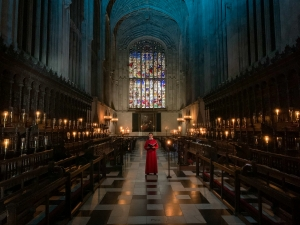 A solo chorister in the Chapel