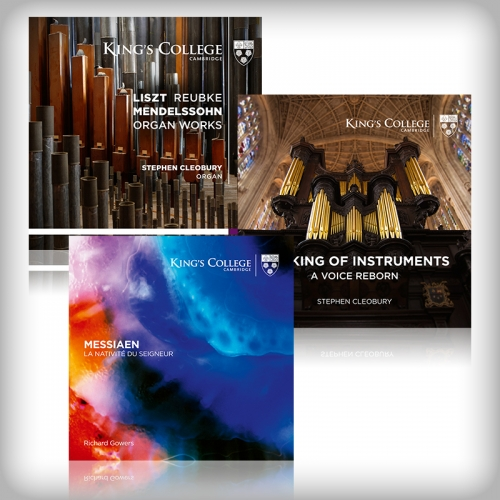 Three organ CD covers