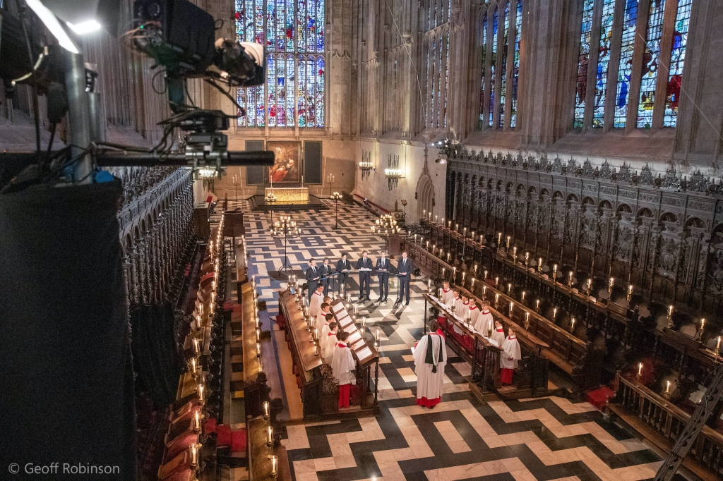 Filming Carols from King's