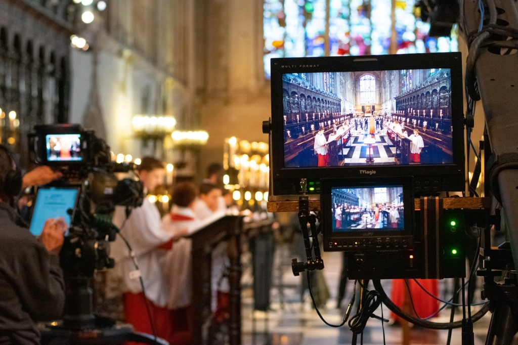 BBC filming Easter from King's