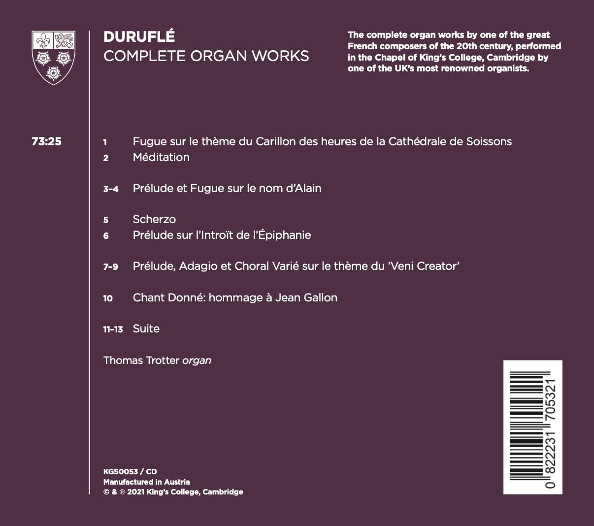 Thomas Trotter Duruflé back cover