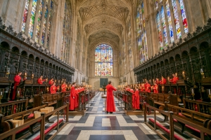 King's College Choir recorded In the Bleak Midwinter spaced apart