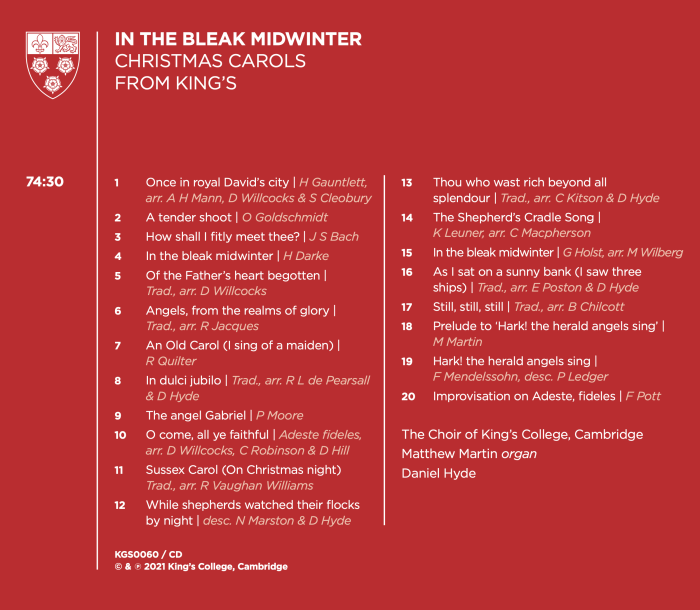 In the Bleak Midwinter back cover